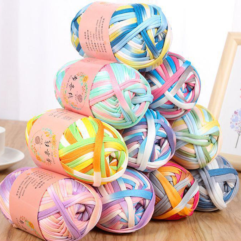 High Quality Baby Cotton Cloth Thread Knitting For Hand Knitting Crochet Worsted Wool Thread Colorful Eco-dyed Needlework