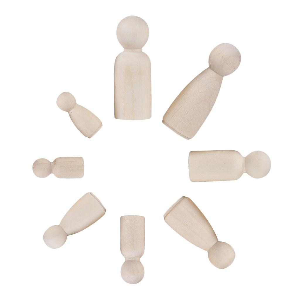 1 Семья 12 деревянные колышки для кукол деревянные фигурки люди DIY ремесло Дети День рождения игрушка