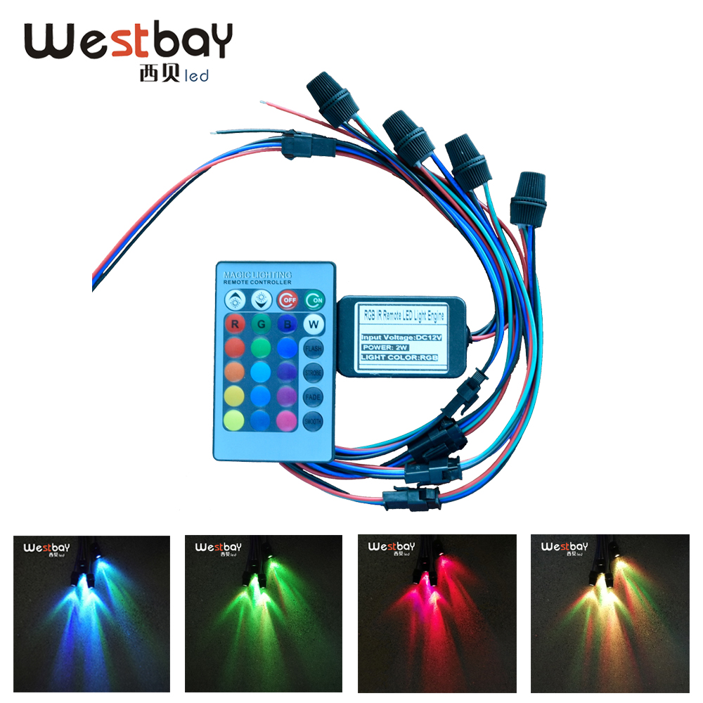 Westbay LED Optical Fiber Light Source Adjustable Lightness 2W RGB Optic Fiber Light Engine  For Car Decoration Christmas