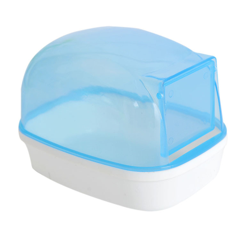 Chinchilla Pet Bath Pool Pet Sand Bathroom Shower Hamster Toilet Sauna Bathtub Playing Box 12*9*9 Cm Dustproof Chinchila Banho