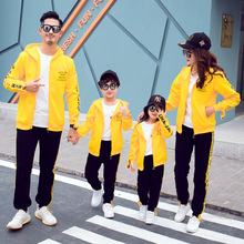Autumn and winter mommy me clothes family matching  look mom daughter son father Leisure sports suit brother sister