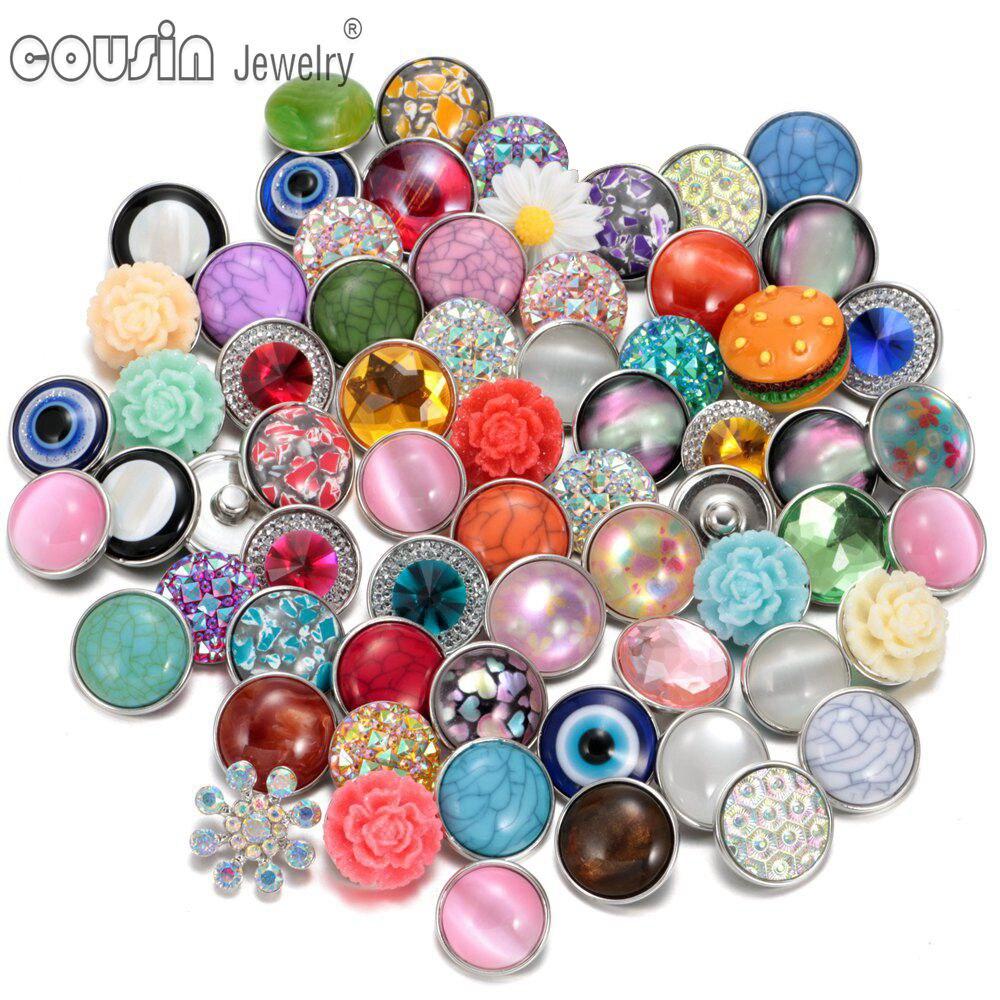 50 шт./лот, смешанный металл и стекло, 18 мм, кнопки, ювелирное изделие, сделай сам, стразы, кнопки, подвески для кнопки сделай сам, браслет, ювелирное изделие