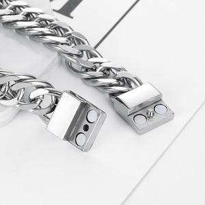 Image 3 - Fiets Ketting Buddha Polsband Mode Nieuwe Link Chain Roestvrij Stalen Armband Vrouwen Zware 12MM Wide Mens Boeddha Bangle ZTB423 4
