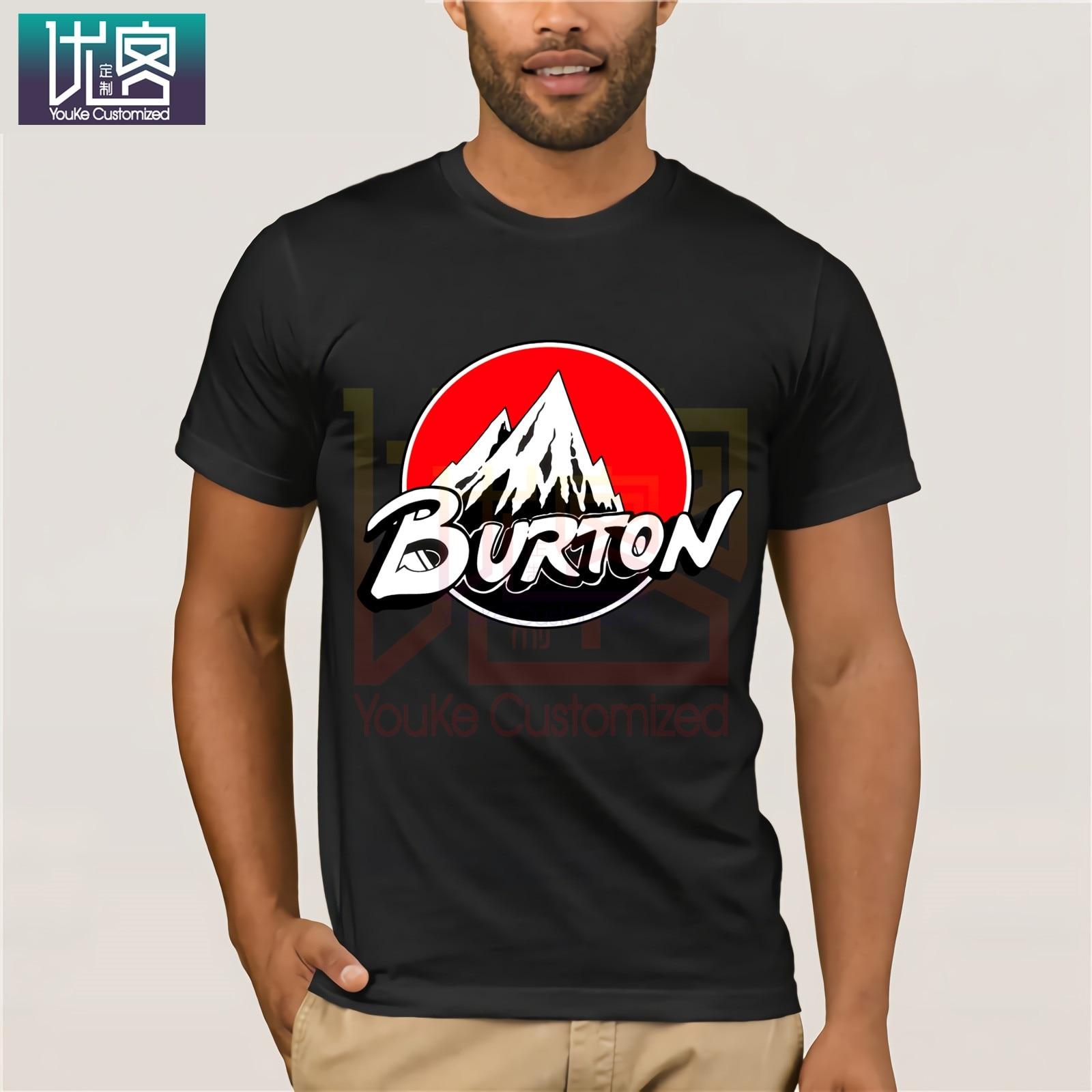Red Burton Logo Arrow Snowboards T Shirt Cartoon Tee Shirt Homme Top Tees Men Cool 2019 Humor Tee Shirt 100% Cotton Tops Graphic