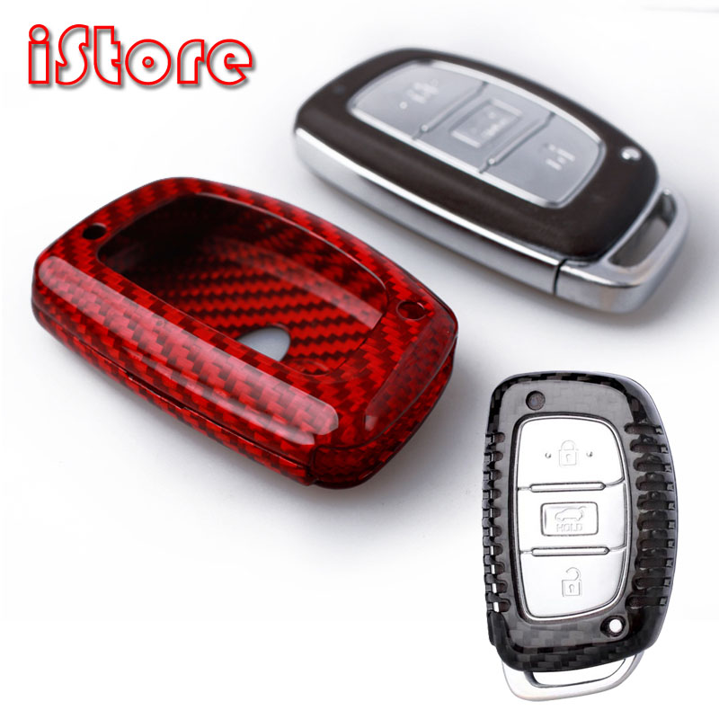 Carbon Fiber Key Case For HYUNDAI Smart Key Some Car Keys