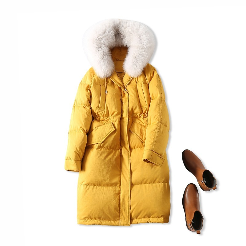 Duck White Down Jacket Women Korean Long Down Coat Womens Winter Down Jacket Chaqueta Mujer YRF18122805 YY1221 S