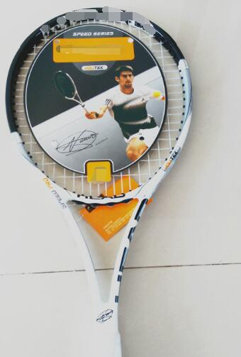 You Tek Speed MP Tennis Racket L5 Carbon Tennis Racket black/white 1 pcs