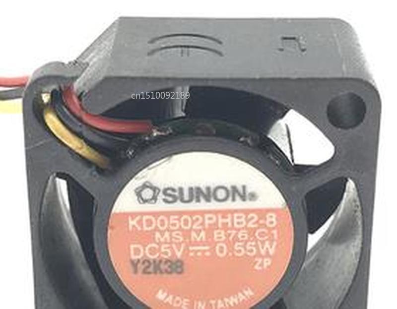 For SUNON KD0502PHB2-8 5V 0.55W 2510 25mm Mini Micro Cooling Fan Free Shipping