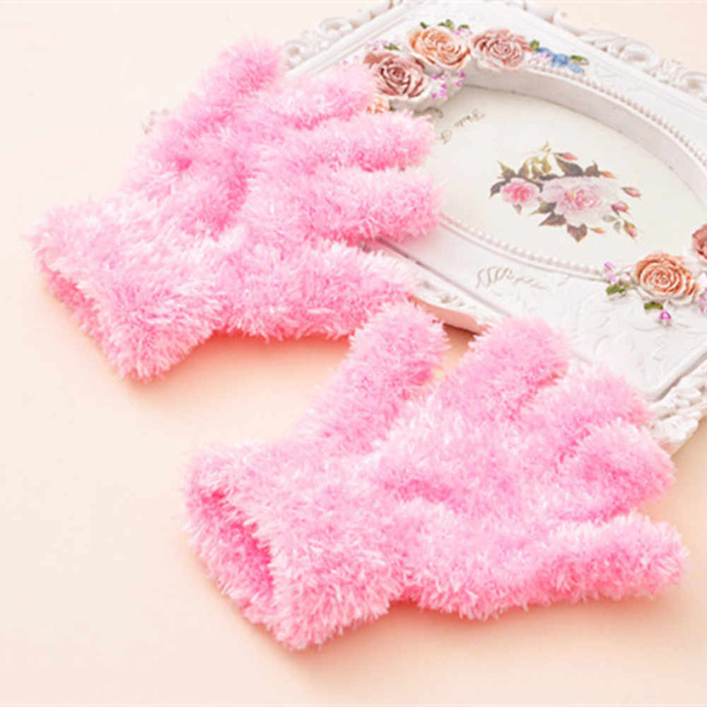 2019 New Style Infant Baby Girls Boys Winter Warm Solid Cotton Gloves Cute baby mittens Keep Finger Warm 1-6Y Kids Gloves Gift
