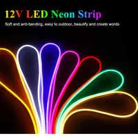 LED Lighting LED Neon Light Flex Sign Board Ambilight DC12V 60leds/M LED Strip rope Light Waterproof IP67 with adapter D4
