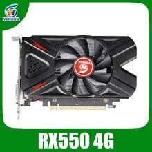 VEINIDA grafik kartları Radeon RX550 4GB GDDR5 128bit PCI Express 3.0 DirectX12 kartı için Amd Rx550 çip görüntü kart oyunu