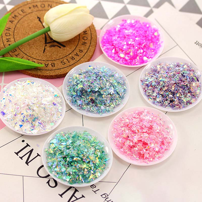 1 Pack Shiny DIY Slime Beads Glitter Slime Supplies Slime Accessories Materials Clay Kids Toys Baby Gifts 12 Color
