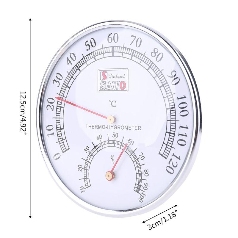 Sauna Thermometer metal Case Steam Sauna Room Thermometer Hygrometer Bath And Sauna Indoor Outdoor Used