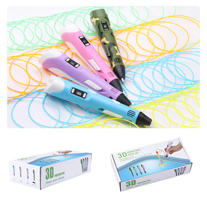 Image 3 - 3D Printing Pen Digital Display Intelligent 3D Pen High Temperature 3D Graffiti Painting Pens with USB Educational Toys Gift