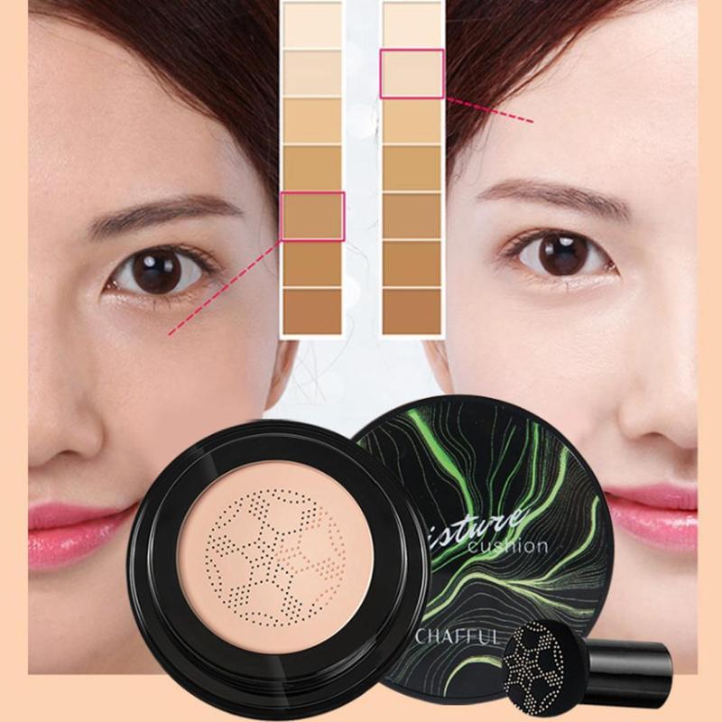 2019 New Mushroom Head Air Cushion BB & CC Cream Moisturizing Foundation Concealer Air-permeable Natural Brightening Makeup