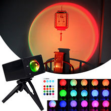 Sunset Projection Lamp Color Changing Romantic USB Night Light Projector Visual Ambient Light for Room Bedroom Photography Decor