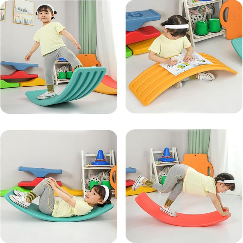 Детская балансировочная игрушка, изогнутая доска-воблер в помещении, Детская двойная уличная доска для йоги, уличная игрушка, игры для дете...