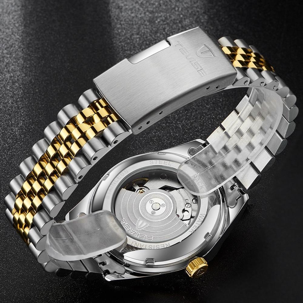 Tevise Armbanduhren Steampunk Herren Roman Number Day Watch - Herrenuhren - Foto 2