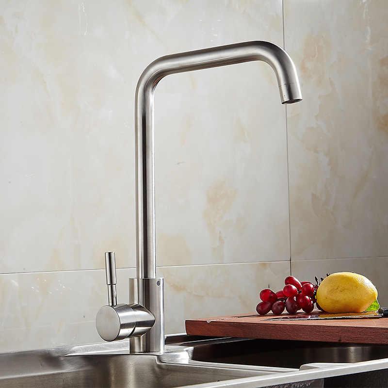 Pia de cozinha torneira da cozinha quente e fria misturadora deck monte stream torneiras flexível pia água torneiras