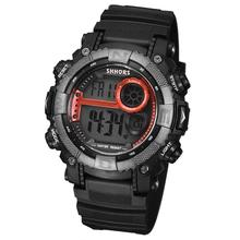 Moda Hombre 2020 Men LED Digital Watches SHHORS Men #8217 s Watches Waterproof Military Sport Electronic Watches Men #8217 s Brand Watches cheap WoMaGe Plastic 34cm 3Bar Buckle ROUND 22mm 16mm Glass Back Light LED display luminous Chronograph Water Resistant Alarm