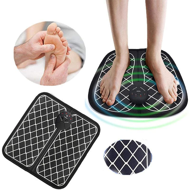Foot Massage Cushion Electric Charging or battery powered Pad Improve Blood Circulation Relieve Ache Pain Muscle Massage Mat