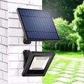 Solar Licht Im Freien Mit Trennbar Solar Panel 16FT Schnur Flutlicht Solar-LED-Licht Für Garten Wand Unterirdischen