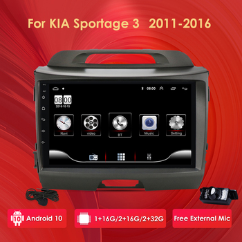 2G+32G Android 10 Car Radio Multimedia Player GPS Navigator For KIA Sportage 2011-2016 autoradio video stereo head unit mic wifi image