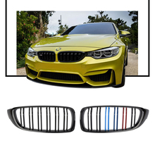 1 Pair Front Kidney Sport Grille Racing Grill Double Slat for BMW F32 F33 F36 F82 420i 428i 435i M4 2014-2018 Car Styling 2pcs set double slat kidney grille front bumper racing grill for bmw 4 series f32 f33 f36 420i 428i 435i m4 2014 2016