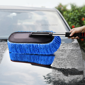 Image 4 - Chenille Car Wash Mop Duster Wipe Fiber Car Brush Car Wash Cleaning Retractable Models