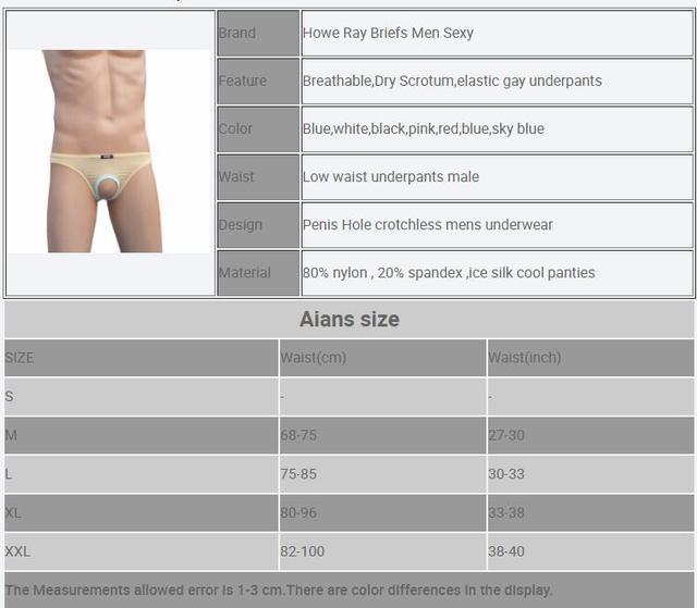 Howe Ray Sexy bielizna męska majtki marki otwór na penis otwórz etui jedwabne majtki dla mężczyzn gejów kalesony męskie krocza zrazy śmieszne
