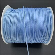 0.5/0.8/1.0/1.5mm skyblue fio de cabo de náilon nó chinês macrame cordão pulseira trançada diy borlas miçangas para shamballa