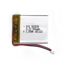 Novo 503035 3.7 v 500 mah bateria de polímero de lítio 3.7 v volt li po ion lipo baterias recarregáveis para psp pda mp3 mp4 gps bluetooth