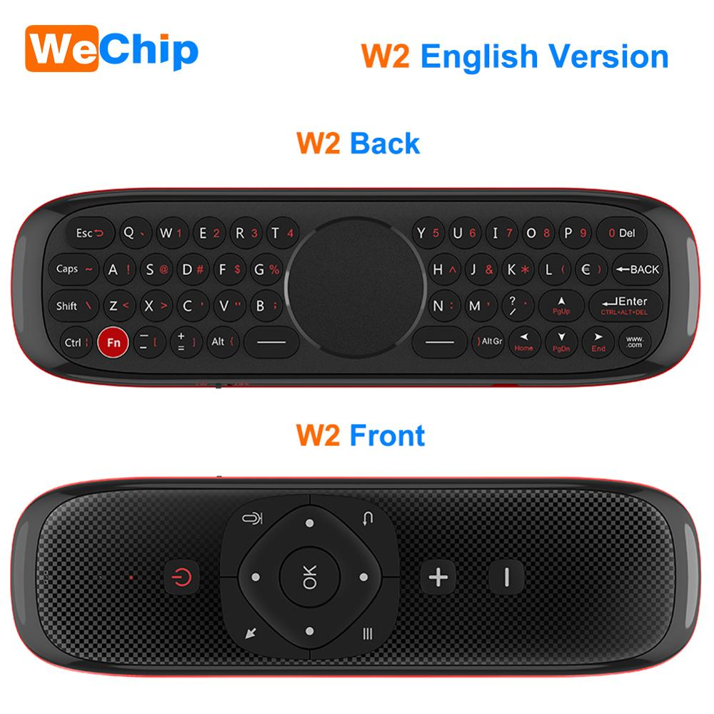 Image 2 - Wechip W2 Mini Keyboard with Touch Pad Mouse 2.4G Wireless Fly Air Mouse Voice Remote Control For Tv Box/Mini Pc/Tv PK Wechip W1Remote Controls   - AliExpress