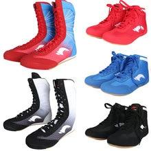 Профессиональная обувь для бокса, борцовки, подошва из коровьей кожи, дышащие Военные кроссовки на шнуровке, тренировочные сапоги для боя, большие размеры 36-46