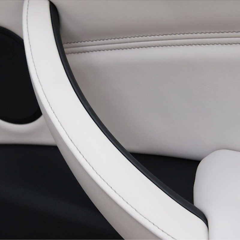 Auto bracciolo Anteriore Sinistro Sedile del Conducente CON GUIDA A SINISTRA Maniglia Interna Della Porta Pannello Interno Tirare Trim Copertura per BMW E70 E71 e72 X5 X6 2007-2014