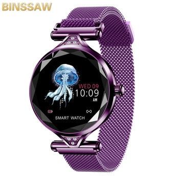 BINSSAW Women Fashion Smart Watch 2019 Blood Pressure Heart Rate Sleep Monitor Pedometer luxury ladies Smartwatch Gift for Girl