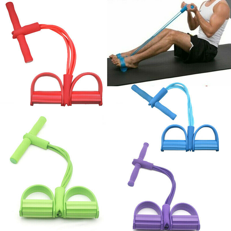 Fitness Gum Elastic Resistance Bands Latex Pedal Exerciser Sit Up Pull Rope Expander Yoga Band Equipment Pilates Workout