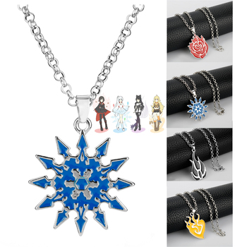 Anime Jewelry RWBY Necklace RubyRose Weiss Schnee Blake Belladonna Yang Xiao Logo Pendants Necklaces Choker Gifts image