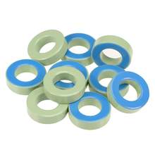 uxcell 10pcs 21.3 x38.8 x 11.2mm Ferrite Ring Iron Powder Toroid Cores Light Green Blue