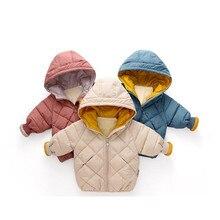 цена Kids Toddler Boys Winter Jackets For Children Outerwear Clothing cotton Baby girl hoodies coat Clothes онлайн в 2017 году