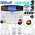 Wifi pstn gsm sistema de alarme 433 detectores com fio sem fio alarme casa inteligente relé saída app inglês/russo/espanhol/frança/italiano