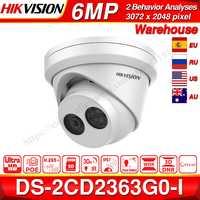 の Hikvision オリジナル 6MP カメラ DS-2CD2363G0-I H.265 検出ネットワーク IP カメラ POE CCTV セキュリティカメラの Sd カードスロット