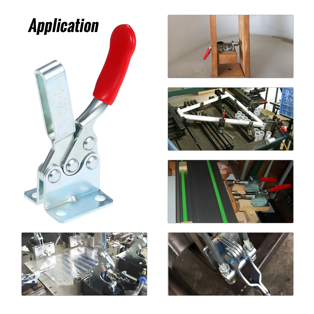 1pc 90kg Anti-Slip U Shape Toggle Clamp Holding Capacity Push Pull Toggle Clamp Vertical/Horizontal Type for Hand Tool