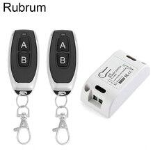 Rubrum AC 110V 220V 433 Mhz אוניברסלי ממסר 1CH אלחוטי שלט רחוק מתג מקלט מודול & RF 433 mhz שלט רחוק DIY