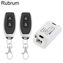 Rubrum AC 110V 220V 433 Mhz relais universel 1CH commutateur de télécommande sans fil Module récepteur et RF 433 Mhz télécommandes bricolage