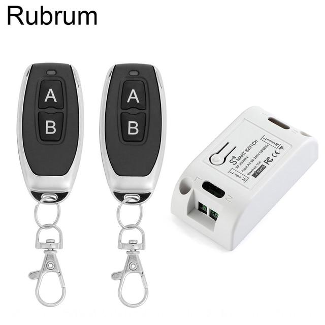 Rubrum AC 110V 220V 433Mhz Universal Relay 1CH Wireless Remote Control Switch Receiver Module & RF 433 Mhz Remote Controls DIY