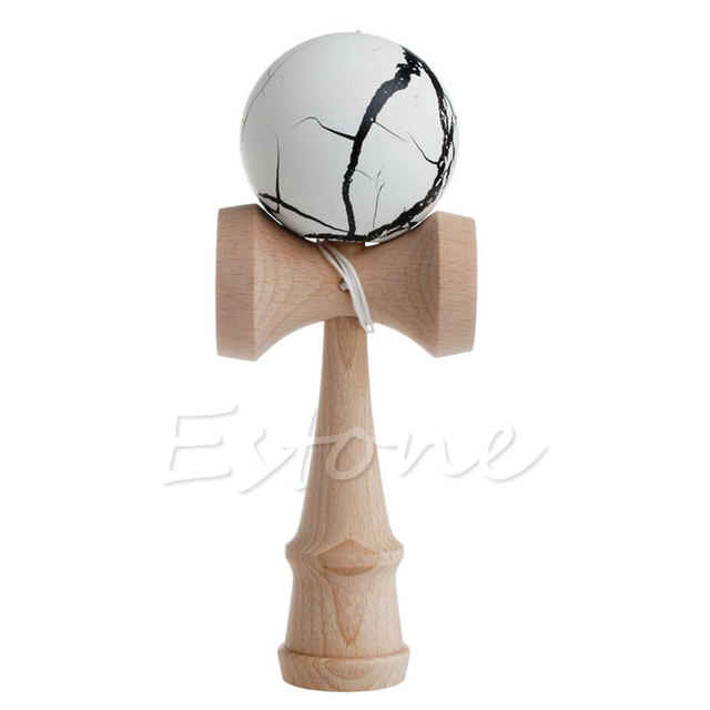 Safety Crack Pattern Toy Bamboo Kendama Best Wooden Educational Toys Kids ToyOutdoor Fun & Sports