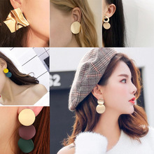 Fashion korean Statement Earrings 2019 Big Geometric Round Earrings For Women Hanging Dangle Earrings Drop Earing Female Jewelry