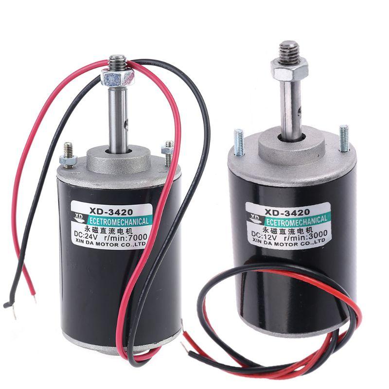 12/24V 30 Вт постоянный магнит Электрический двигатель постоянного тока высокой Скорость CW/CCW Для DIY Генератор