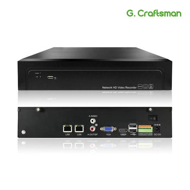 16CH 4K 32CH 5MP H.265 NVR 485 Báo Động Ngoài Mạng Đầu Ghi Hình 2 HDD ONVIF P2P Cho Camera IP hệ Thống An Ninh G. ccraftsman